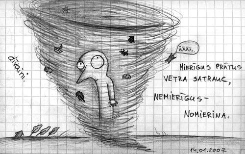 dīvaini. Mierīgus prātus vētra satrauc, nemierīgus - nomierina. | ĀĀĀĀ