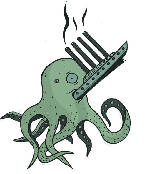 astoņkājis apdruka sakrāsosts