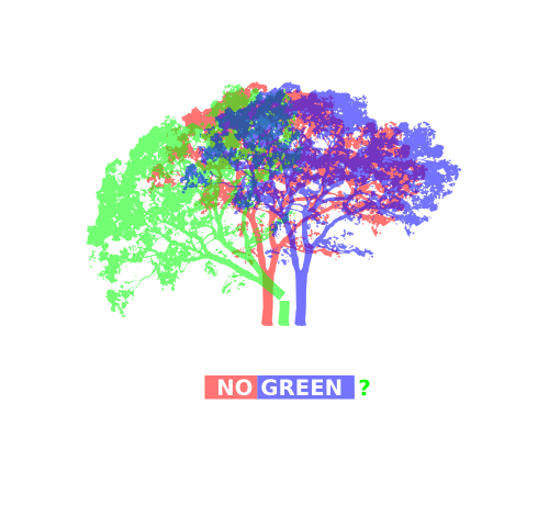 RGB tree | NO GREEN?