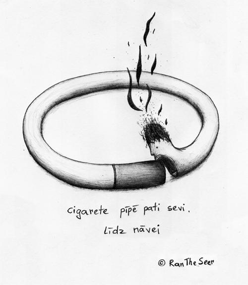 Cigarete pīpē pati sevi. līdz nāvei (c) RanTheSeer