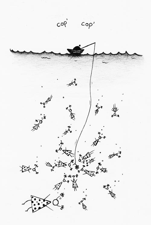 cop' cop' - Vai varētu, lūdzu, uzzīmēt meiteņu copētāju (zvejnieku)? Madara
