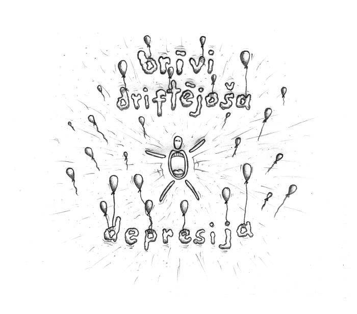 viegli/brīvi driftējoša depresija
